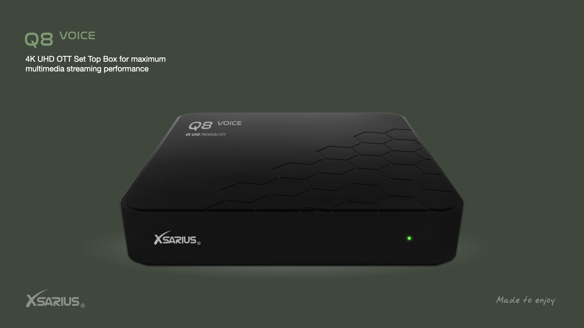 Xsarius Q8 - 4K UHD OTT Smart BOX