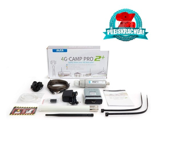 Alfa Network 4G-Camp Pro2 + Set - U4G Tube - R36 Router