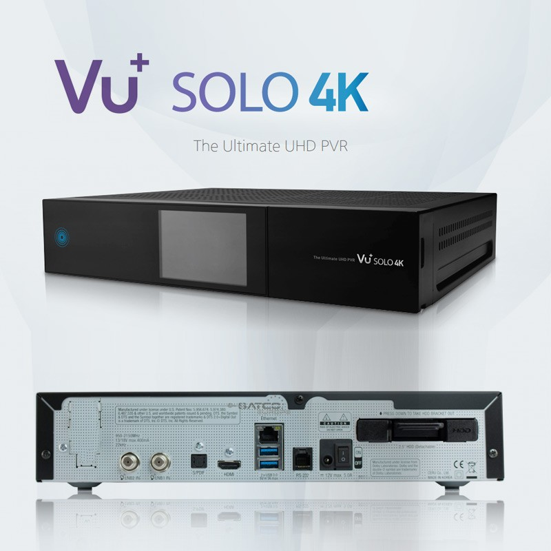 VU+ Solo 2 Full HD 1080p Twin Linux Receiver PVR