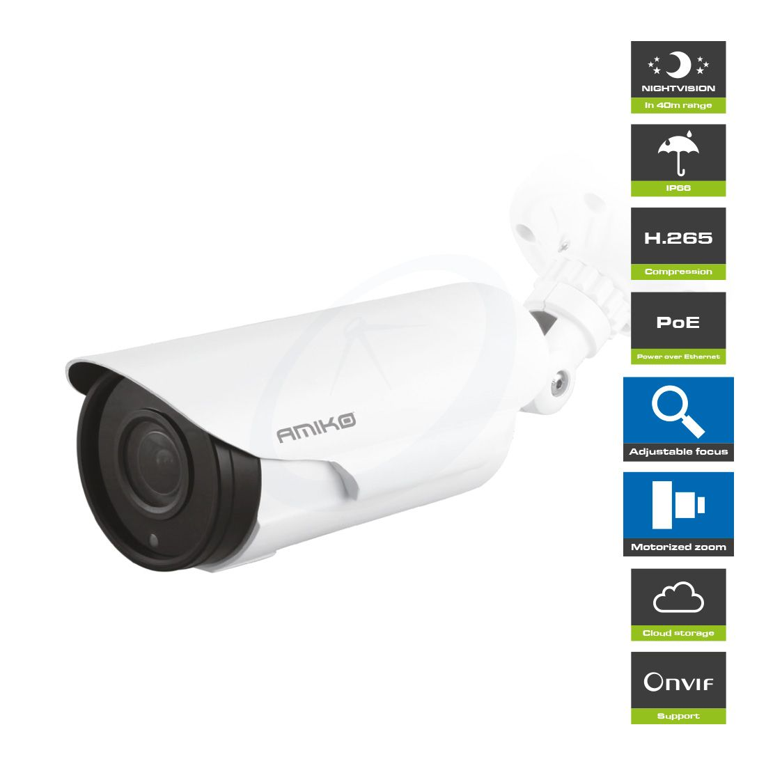 Amiko Home B40M500ZOOM POE - 5 MP - Full HD